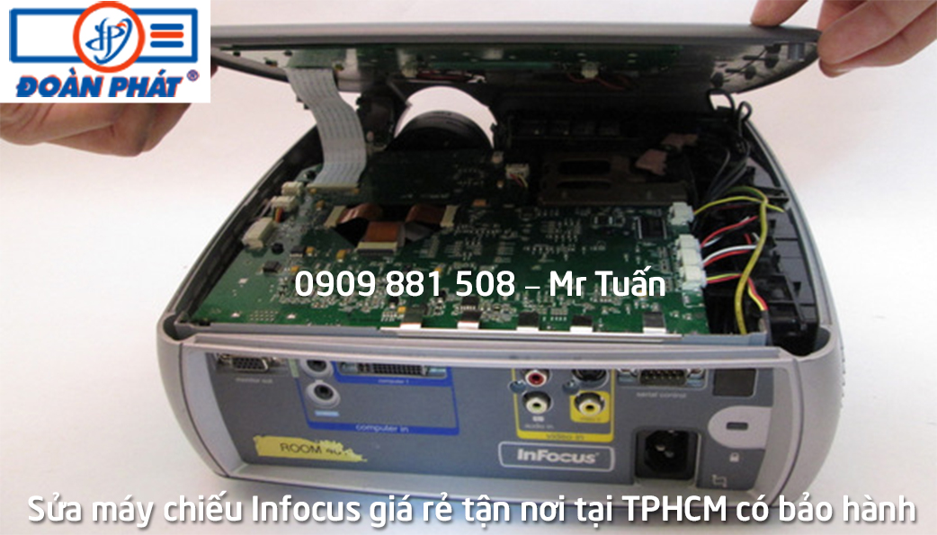 Sửa máy chiếu Infocus giá rẻ tận nơi tại TPHCM có Thời Gian Bảo Hành